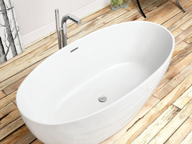 Waters I-Line - 20mm Edge Stream - 1540mm Freestanding Bath