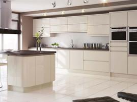 Mackintosh Integral Gloss Ivory Handleless Kitchen Units