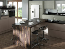 Mackintosh Trend Painted Kitchen in Taupe & Hickory
