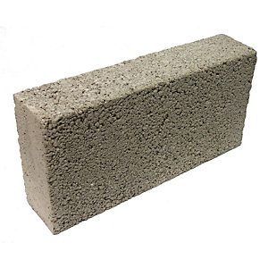 Concrete Block Solid Dense 440 x 215 x 100mm 7.3N