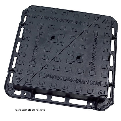 Solid Ductile Iron Manhole Cover and Frame B125 600 x 450 x 75mm CD 779 KMB