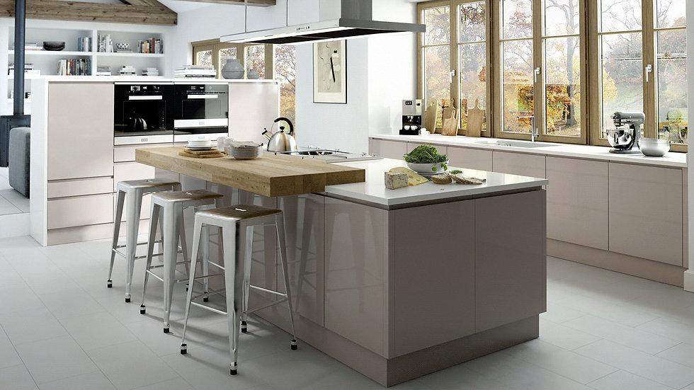 Mackintosh Integral Gloss Cashmere Kitchen