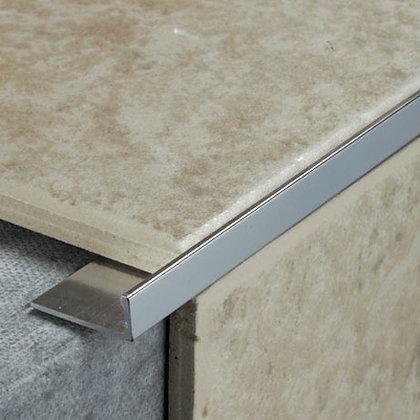 Straight Tile Trim Silver 12mm x 2.44m