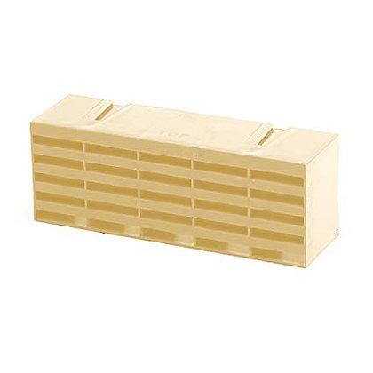 "Plastic Combination Air Brick 9"" x 3"" Buff"