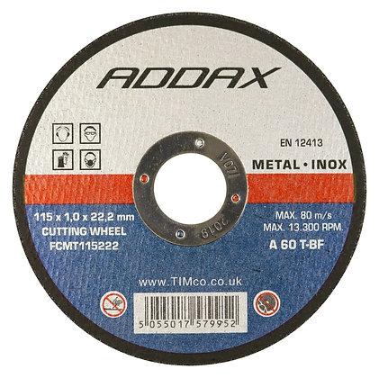 Cutting Disc Flat Metal 115mm x 1mm x 22mm FCMT115222