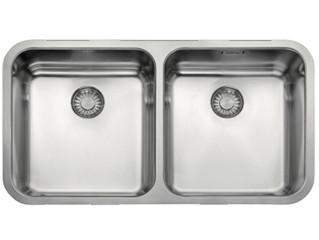 Franke Largo Undermount Double Bowl Sink 795x440 Stainless Steel
