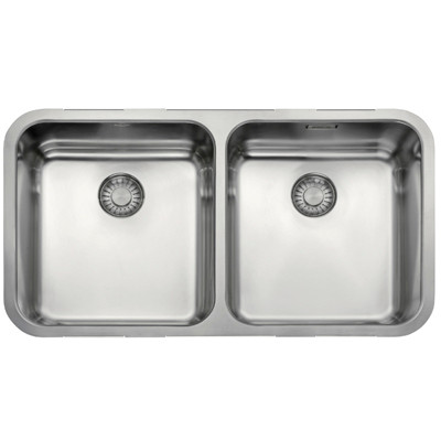 Franke Largo Undermount Double Bowl Sink 795x440 Stainless Steel