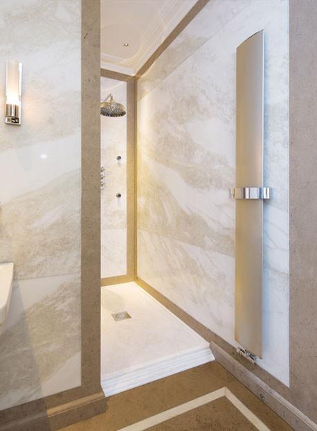 Bisque Svelte Towel Radiator 1510 x 300mm Champagne