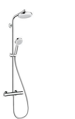 Hansgrohe Crometta Showerpipe 160 1jet with Thermostatic Shower Mixer
