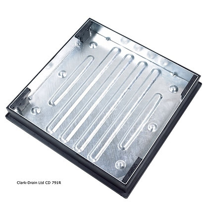 Recessed Block Paving Manhole Cover and Frame 600x600x80mm