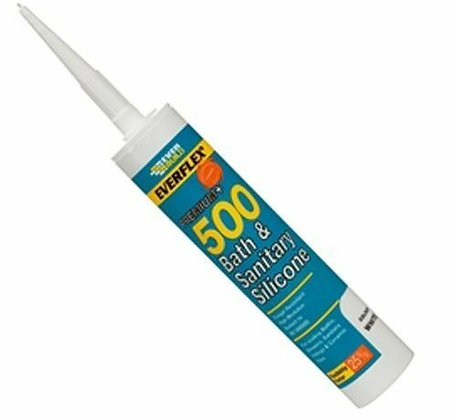 Everflex 500 Premium Bath and Sanitary Silicone Sealant C3 Clear