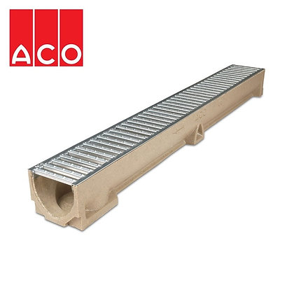 Aco Drainage Channel RainDrain 1m Polymer with Galvanised Grating