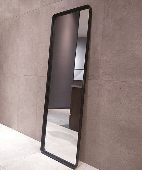 K&B City Mirror 150x50cm Black