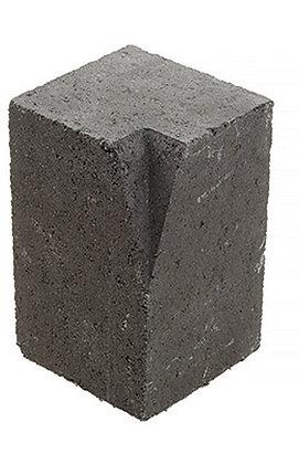 Block Paving High Kerb External Corner Charcoal