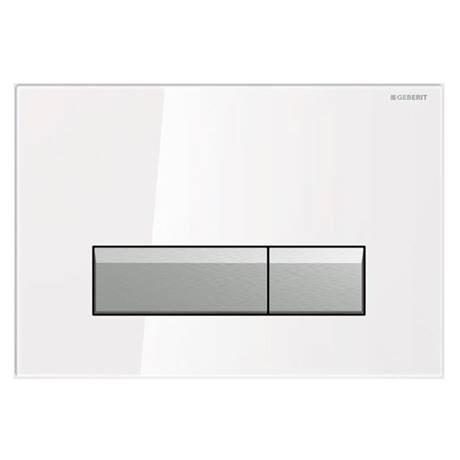 Geberit Flush Plate Sigma40 For Dual Flush White Glass