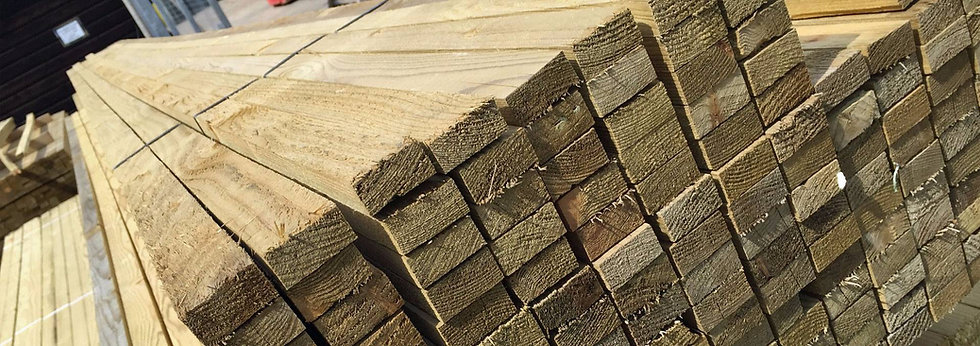 Treated Sawn Roofing Batten 25 x 38 x 4800mm