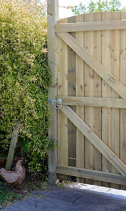 Treated Timber Golden Arched Featheredge Gate 1829 x 915mm