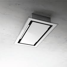 Elica Cirrus White Glass Ceiling Mounted Extractor