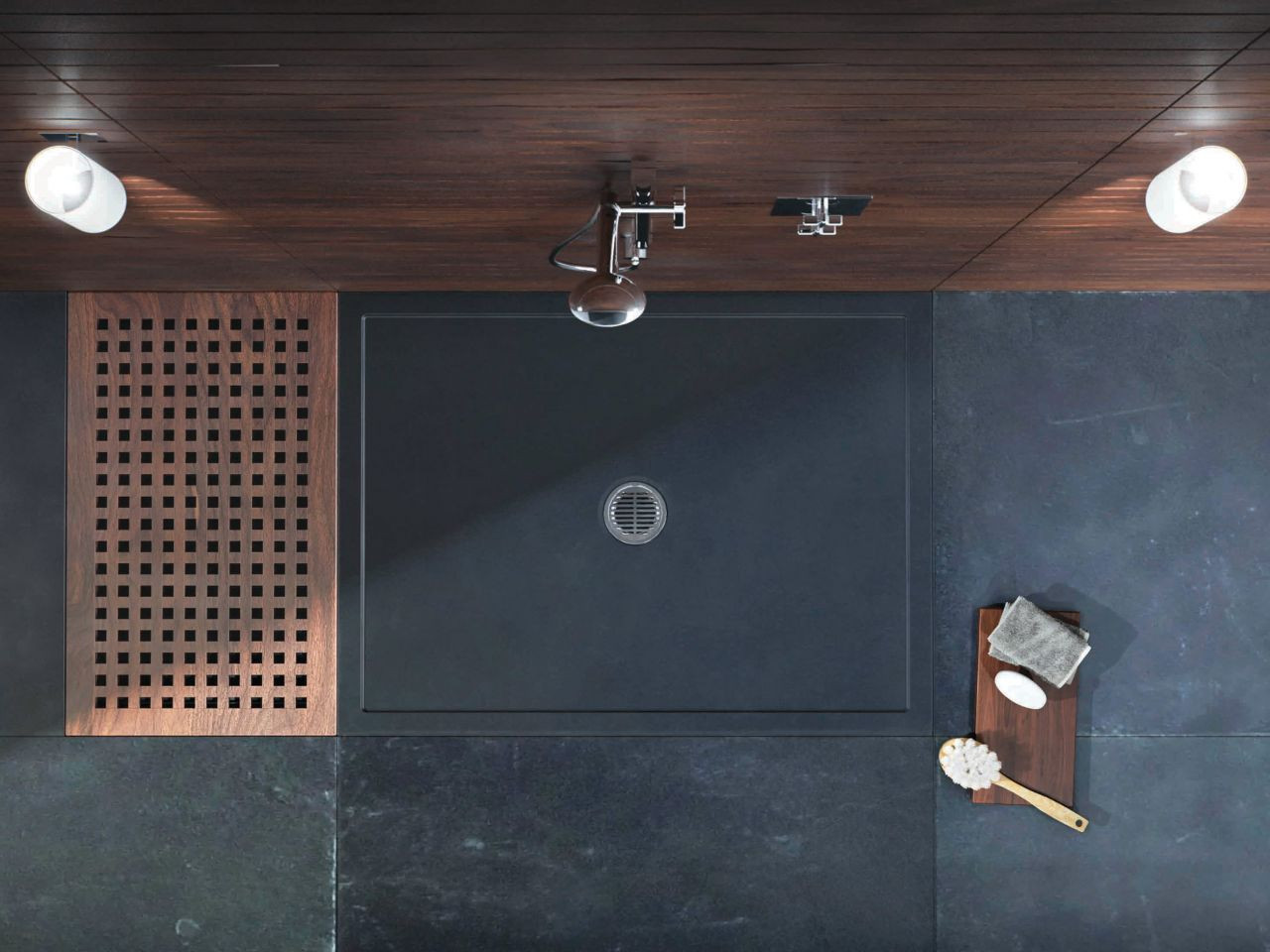 Matki Universal 40 Shower Tray 1400 x 900mm Black