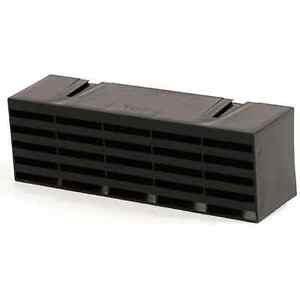 "Plastic Combination Air Brick 9"" x 3"" Black"