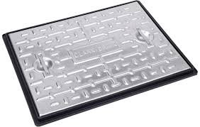 Solid Top Galvanised Manhole Cover and Frame 5T 600x450mm