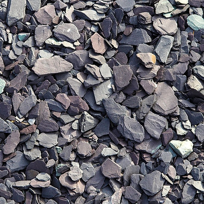 Blue Slate 40mm Decorative Chippings Bulk Bag