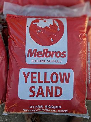 Yellow Building Sand Poly Bag