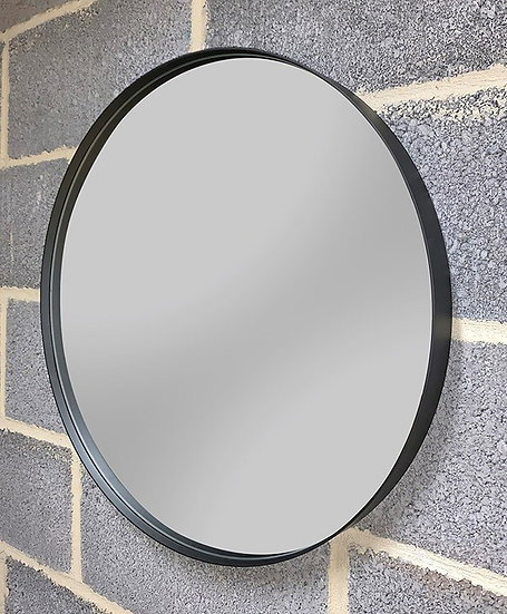 K&B City Mirror 60cm Circular Black