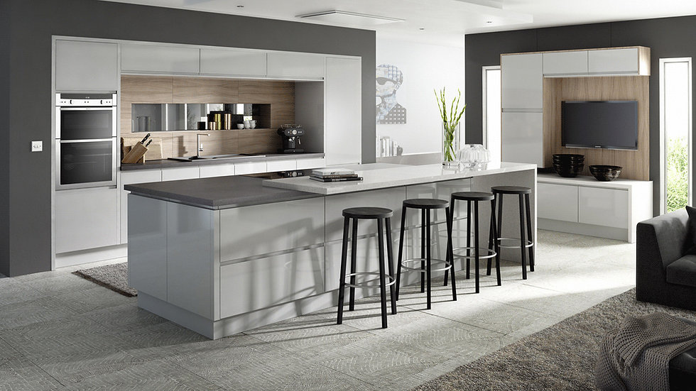 Mackintosh Integral Gloss Light Grey Kitchen