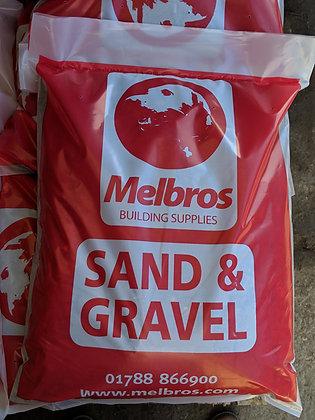 Mixed Sand & Gravel Ballast Poly Bag