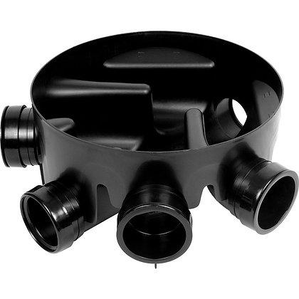 Underground uPVC Inspection Chamber Base 450mm 5-Inlet 160mm