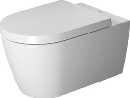 Duravit ME By Starck Toilet Wall Mounted 570mm Washdown Durafix White