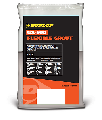Dunlop Flex Grout GX-500 2.5kg Polar White