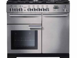 Rangemaster 100cm Deluxe Professional Range Cooker Stainless Steel