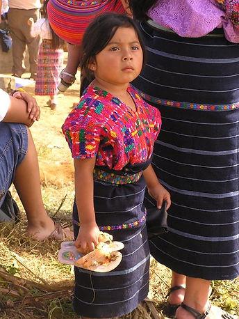 グアテマラの先住民の女の子
