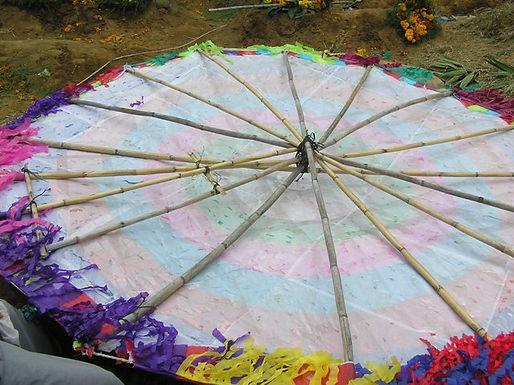 凧の骨組みは竹