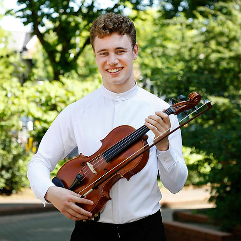 a picture o Fiachra with his viola