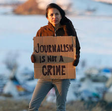 A Reporter's Arrest from Standing Rock