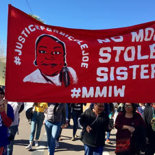 At Women's Marches, a spotlight on #MMIW