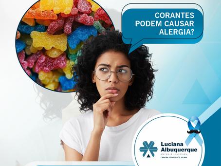 Corantes podem causar Alergia?