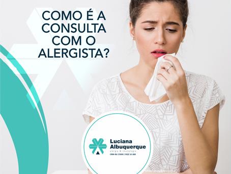 Como é a consulta com o Alergista?
