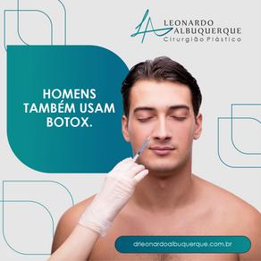 Homens também usam Botox.