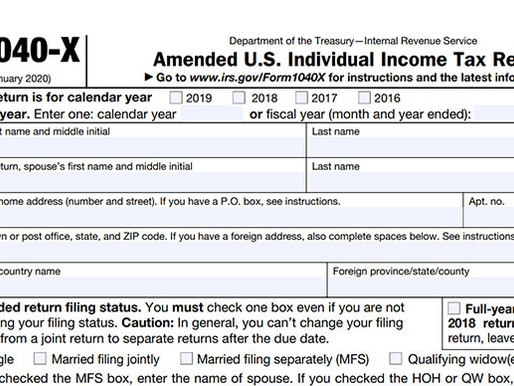 Need to change something on your tax return?