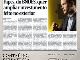 Investimento da FAPES no exterior é tema de reportagem do Valor Econômico