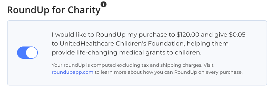 RoundUp at Checkout example