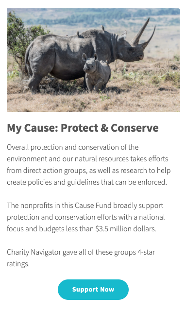 Protect and Conserve Cause Fund description