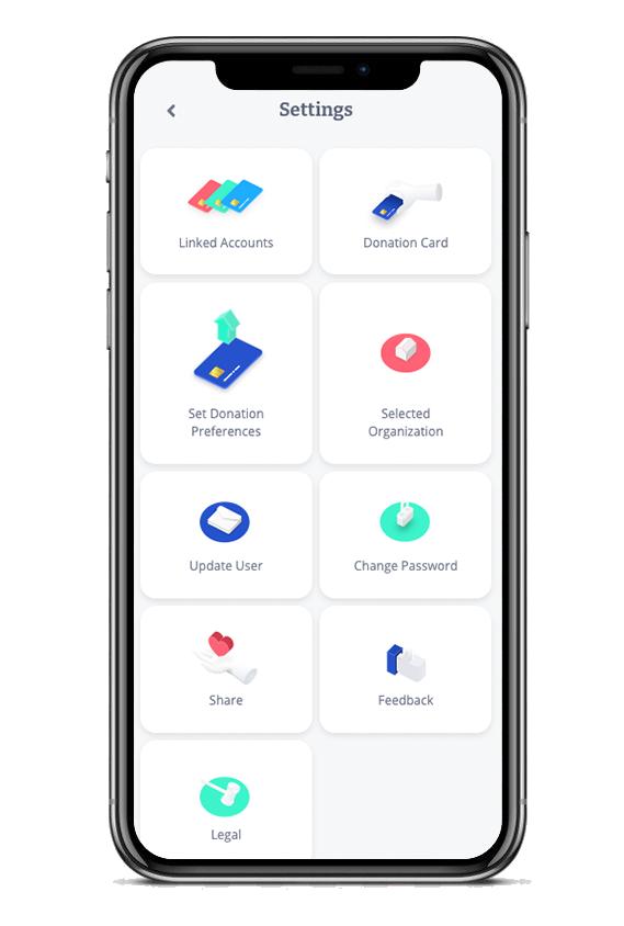 App user settings screen