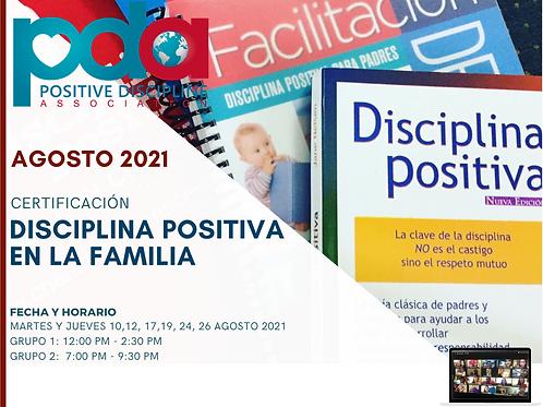 Certificación de Disciplina Positiva en la Familia