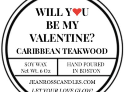 Tin Valentine Candle