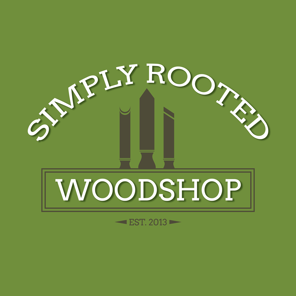 Simply Rooted Woodshop logo